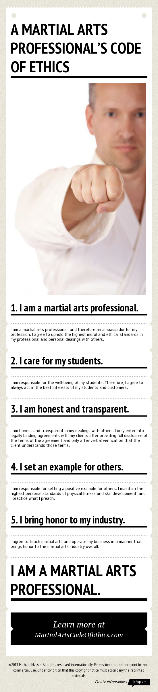 Martial Arts Professional's Code of Ethics