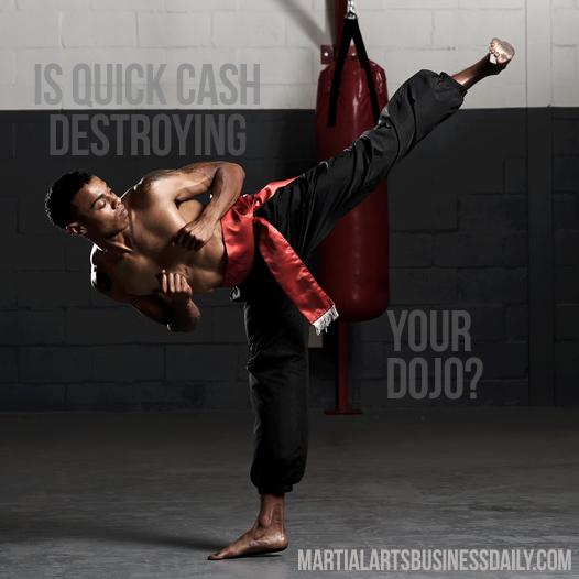 martial art school cash outs